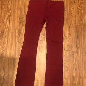 The Limited Pants - Maroon Stretchy Dress Pants